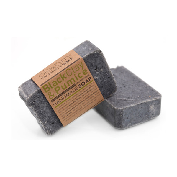 black clay & pumice handmade soap