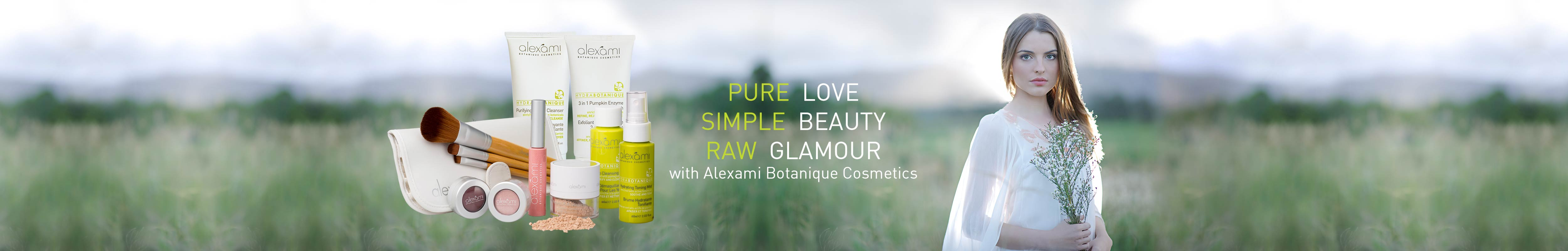 Pure Love, Simple beauty, Raw glamour with Alexami Botanique Cosmetics
