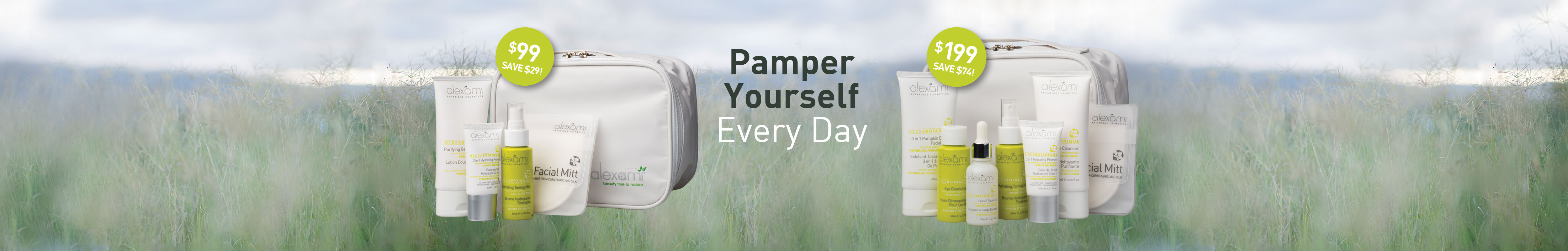 pamper yourself every day with Alexami